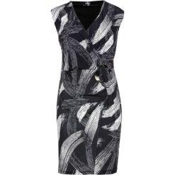 Sukienka dżersejowa bonprix czarno-biały wzorzysty. Sukienki damskie marki DOMYOS. Za 99.99 zł.