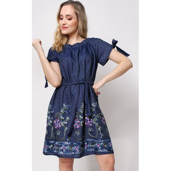 aecacebb61 Sukienka jeansowa w stylu carmen - Sukienki damskie marki Martex