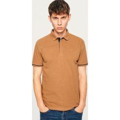 Koszulka polo - Beżowy. Brązowe koszulki polo męskie Reserved. Za 79.99 zł.