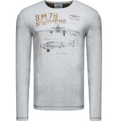 T-shirt AERONAUTICA MILITARE Szary. Bluzki z długim rękawem męskie marki Marie Zélie. Za 260.00 zł.