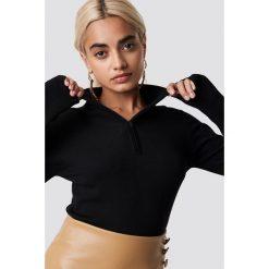 NA-KD Trend Sweter z suwakiem - Black. Czarne swetry damskie NA-KD Trend, z materiału. Za 141.95 zł.