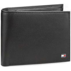 Duży Portfel Męski TOMMY HILFIGER - Eton Cc Flap And Coin Pocket AM0AM00652 002. Szare portfele męskie marki Giacomo Conti, na zimę, z tkaniny. Za 299.00 zł.