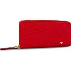 Duży Portfel Damski TORY BURCH - Fleming Zip Continental Wallet 46542 Brilliant Red 612. Czerwone portfele damskie Tory Burch, ze skóry. Za 1,039.00 zł.