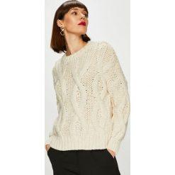 Only - Sweter. Szare swetry damskie Only, z dzianiny, z okrągłym kołnierzem. Za 219.90 zł.