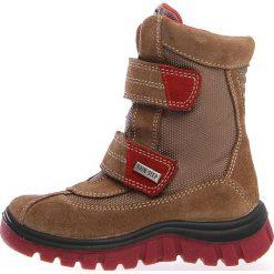 """Kozaki zimowe """"Bazena"""" w kolorze brązowym. Buty zimowe chłopięce marki Geox. W wyprzedaży za 215.95 zł."""