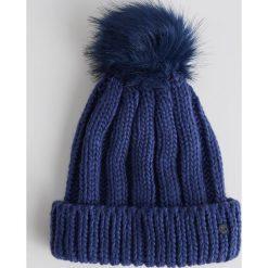 Czapka z pomponem - Granatowy. Czapki i kapelusze damskie marki Sinsay. W wyprzedaży za 14.99 zł.