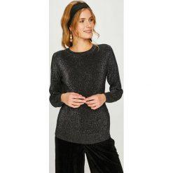 Answear - Sweter. Czarne swetry damskie ANSWEAR, z dzianiny, z okrągłym kołnierzem. W wyprzedaży za 89.90 zł.