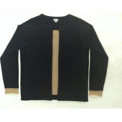 Sweter kaszmirowy 2w1 w kolorze czarno-beżowym. Brązowe kardigany damskie Ateliers de la Maille, z kaszmiru. W wyprzedaży za 591.95 zł.