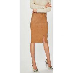 Answear - Spódnica. Szare spódnice damskie ANSWEAR, z elastanu. Za 99.90 zł.