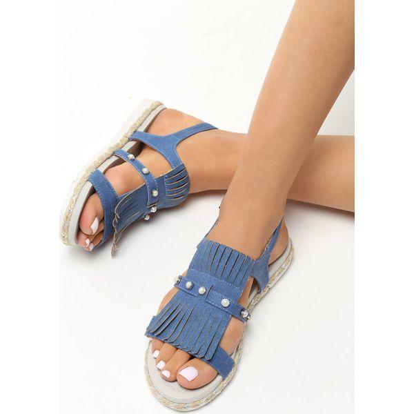 beab7bc0 Granatowe Sandały Tendril - Niebieskie sandały damskie Born2be, z ...