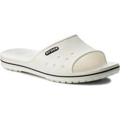 Klapki CROCS - Crocband II Slide 204108  White/Black. Białe klapki damskie Crocs, z tworzywa sztucznego. Za 129.00 zł.