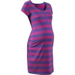 Koszula nocna do karmienia bonprix fioletowo-lila w paski. Fioletowe koszule nocne damskie bonprix, w paski, z bawełny. Za 54.99 zł.