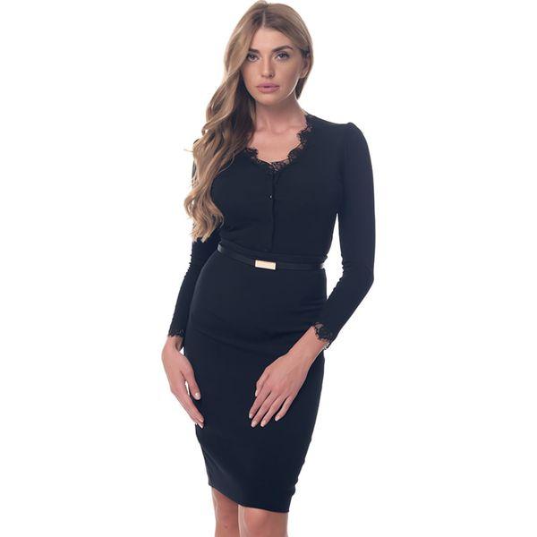 e038fe8870e597 Sukienka w kolorze czarnym - Sukienki damskie Arefeva, w paski, z ...
