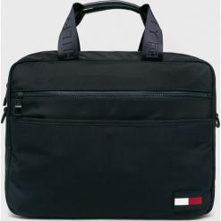 Tommy Hilfiger - Torba. Czarne torby na laptopa męskie Tommy Hilfiger, w paski, z materiału. Za 539.90 zł.