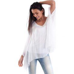Koszulka w kolorze białym. T-shirty damskie 100% Soie, klasyczne, z okrągłym kołnierzem, z długim rękawem. W wyprzedaży za 130.95 zł.