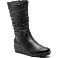 Kozaki CAPRICE - 9-26407-21 Black Nappa 022. Czarne kozaki damskie Caprice, ze skóry. W wyprzedaży za 249.00 zł.