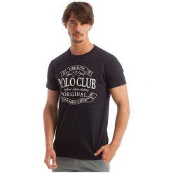 Polo Club C.H..A T-Shirt Męski M Ciemnoniebieski. Czarne koszulki polo męskie Polo Club C.H..A. W wyprzedaży za 119.00 zł.