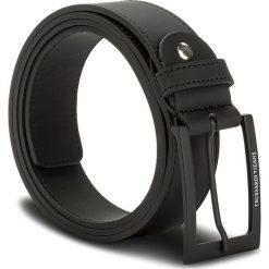 Pasek Męski TRUSSARDI JEANS - Belt Rubberized 71L00051 K299. Czarne paski damskie TRUSSARDI JEANS, w paski, z jeansu. W wyprzedaży za 189.00 zł.