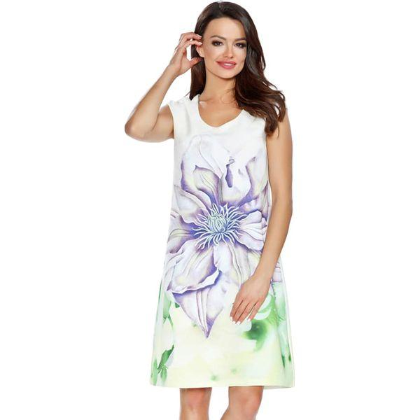 55d60a6b5 Sukienka w kolorze białym ze wzorem - Białe sukienki damskie marki ...