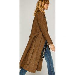 Trendyol - Płaszcz. Szare płaszcze damskie Trendyol, w paski, z bawełny, klasyczne. Za 219.90 zł.