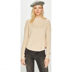 Pepe Jeans - Sweter Sue. Szare swetry damskie Pepe Jeans, z bawełny, z okrągłym kołnierzem. Za 279.90 zł.