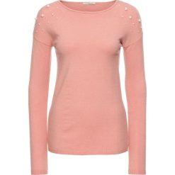 Sweter z aplikacją z perełek bonprix stary jasnoróżowy. Swetry damskie marki bonprix. Za 54.99 zł.