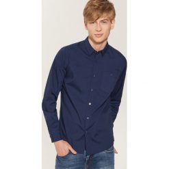 Gładka koszula - Granatowy. Niebieskie koszule męskie House. Za 69.99 zł.