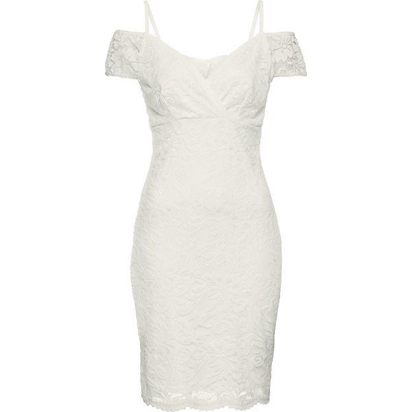 d51359c1b3 Sukienka koronkowa bonprix biały - Białe sukienki damskie marki ...