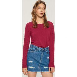 Sweter basic - Fioletowy. Fioletowe swetry damskie Sinsay. Za 39.99 zł.