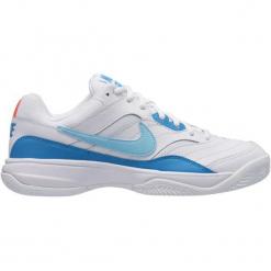 Nike Buty Do Tenisa Court Lite Clay Tennis Shoe White Bleached Aqua-Neo Turq-Hot Lava 40,5. Białe obuwie sportowe damskie Nike. Za 245.00 zł.