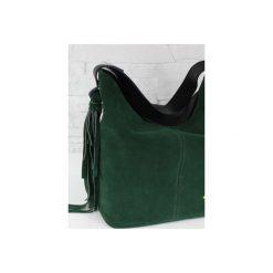 Zamsz-lico Shopper boho butelkowa zieleń GOLD. Zielone torebki shopper damskie Fabiola, z materiału. Za 281.00 zł.