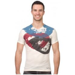 Pepe Jeans T-Shirt Męski Smile Xl Kremowy. Białe t-shirty męskie Pepe Jeans, z jeansu. W wyprzedaży za 119.00 zł.