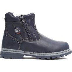 Granatowe Traperki Big-City. Niebieskie buty zimowe chłopięce Born2be, z materiału. Za 79.99 zł.