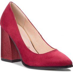 Półbuty MENBUR - 09681 Cherry 0077. Czerwone półbuty damskie Menbur, z materiału, eleganckie. Za 239.00 zł.