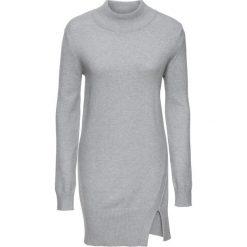 Długi sweter z rozcięciami bonprix jasnoszary melanż. Swetry damskie marki KALENJI. Za 79.99 zł.