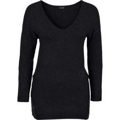 Sweter z aplikacją z cekinów bonprix czarny. Swetry damskie marki bonprix. Za 79.99 zł.