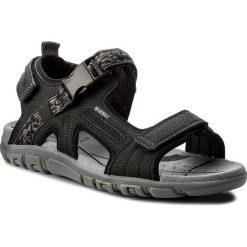 Sandały GEOX - U S.Strada A U8224A 00050 C9997 Black. Czarne sandały męskie Geox, z materiału. W wyprzedaży za 239.00 zł.