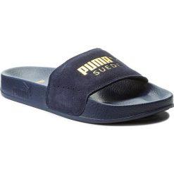 Klapki PUMA - Leadcat 365758 02 Peacoat/Gold. Niebieskie klapki damskie Puma, z materiału. W wyprzedaży za 139.00 zł.