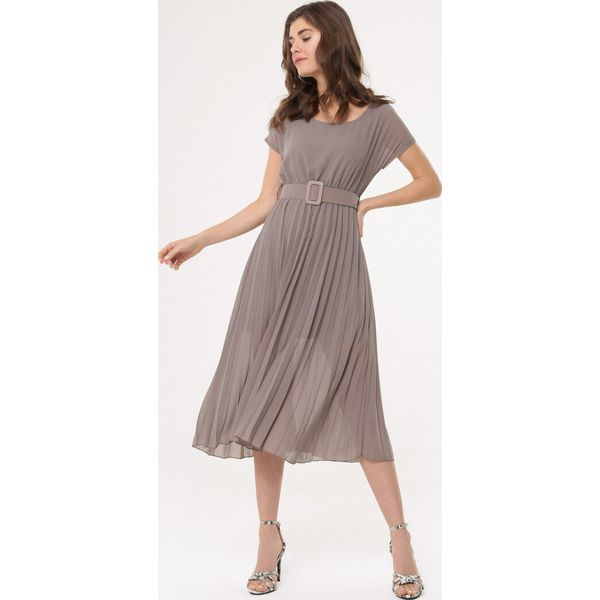 fcb68ec819 Khaki Sukienka Nucleon - Brązowe sukienki damskie marki Born2be