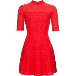 Sukienka koronkowa bonprix czerwony. Czerwone sukienki damskie bonprix, z koronki. Za 149.99 zł.