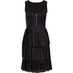Sukienka plisowana bonprix czarny. Czarne sukienki damskie bonprix. Za 74.99 zł.