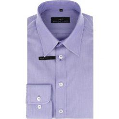 Koszula ENRICO slim 14-10-04. Fioletowe koszule męskie Giacomo Conti, z bawełny, z klasycznym kołnierzykiem. Za 259.00 zł.