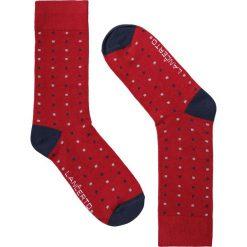 Skarpety Czerwone. Czerwone skarpety męskie LANCERTO, w kolorowe wzory, z bawełny. Za 29.90 zł.