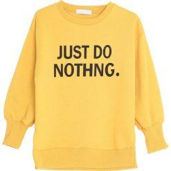 Żółta Bluza Subjection. Żółte bluzy dla dziewczynek Born2be. Za 44.99 zł.