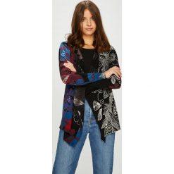 Desigual - Sweter. Czarne kardigany damskie Desigual, z bawełny. W wyprzedaży za 239.90 zł.