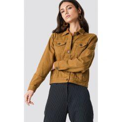 Lasula Kurtka jeansowa oversize - Brown. Brązowe kurtki damskie Lasula, z denimu. Za 141.95 zł.