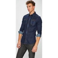 Guess Jeans - Koszula Connor. Szare koszule męskie Guess Jeans, z bawełny, z klasycznym kołnierzykiem, z długim rękawem. Za 379.90 zł.