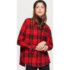 Koszula w kratę - Czerwony. Czerwone koszule damskie Cropp. W wyprzedaży za 39.99 zł.