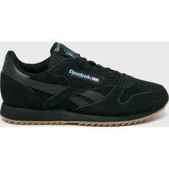 Reebok - Buty Cl Leather Mu. Czarne buty sportowe męskie Reebok, z materiału. Za 379.90 zł.