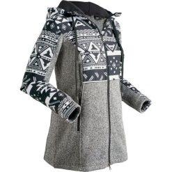 Bluza dzianinowa z polaru, długi rękaw bonprix czarny. Bluzy damskie marki KALENJI. Za 179.99 zł.